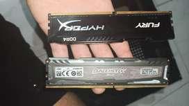 Dos memorias RAM de 4Gb  DDR4 2400MZ Gamers!