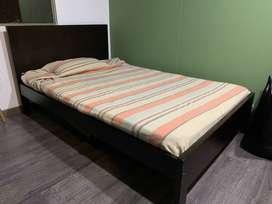 Cama semidoble+colchón