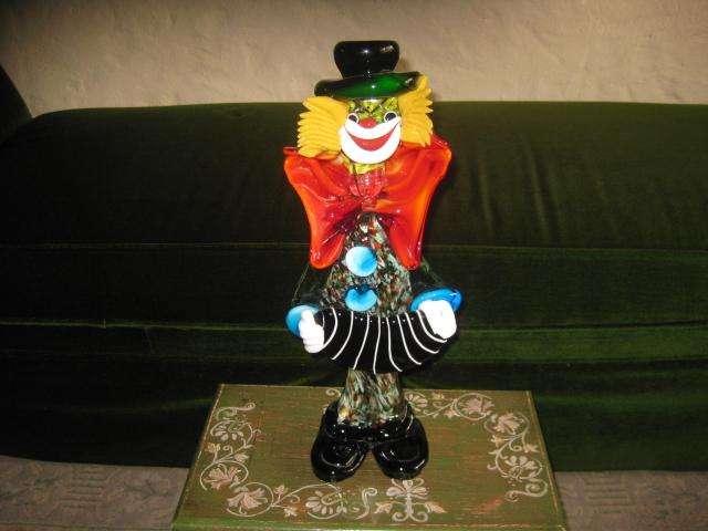 Payaso en Cristal de Murano40cms de alto3.000.000