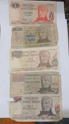 Billetes argentinos antiguos