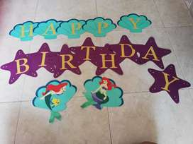 Letrero cumpleaños temáticos