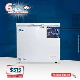 Congelador Horizontal Oster de 316 Litros De Capacidad, Color Blanco OS-CF11002WE.