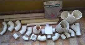 Codos PVC varios.