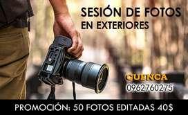 Sesión de fotografías profesionales