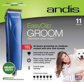 Maquina Andis Easy Clip Groom Azul, Corta Pelo Perro