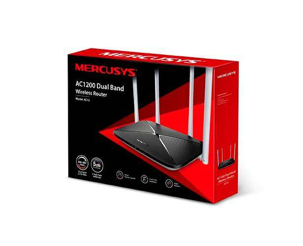 Router Mercusys Ac12 4 Antenas Dual Banda 1200mb Giga 0