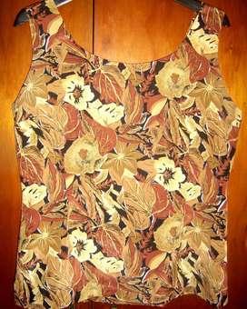 blusa para salir, entallada, de seda salvaje, talle ML de modista