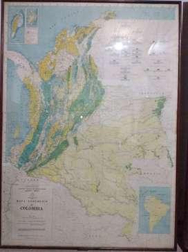 Cuadro Plano Geologico de Colombia  – Mapa Geologia Colombiana