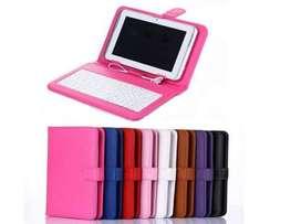 Funda para tablet pc 7' funda, teclado, lapiz touch
