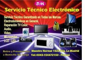 Servicio Técnico Electrónico en Paraná. Electronica DM. Retiro y Presupuestos Sin Cargo