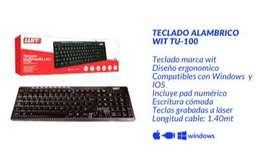 TECLADO ALAMBRICO WIT TU-100