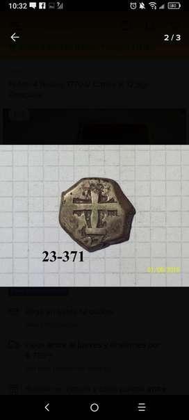 Potosi 4 Reales 1770 V Carlos III 12,8gr