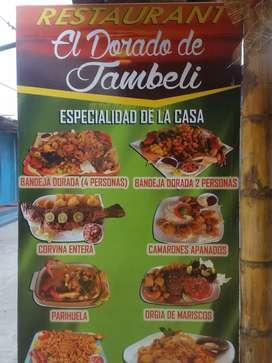Necesito Cocinero con experiencia en Mariscos