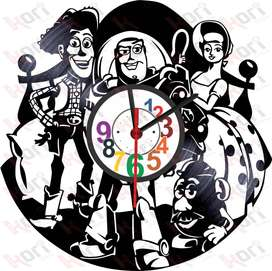 Reloj en disco LP/ vinyl clock Toy Story pixar