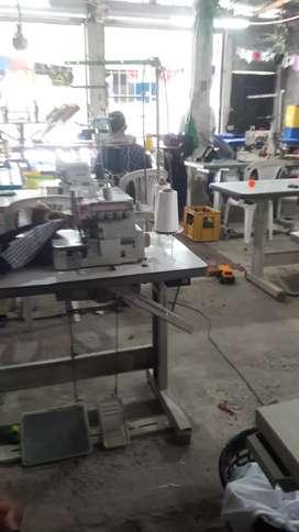 Empleo costura en maquinas industriales