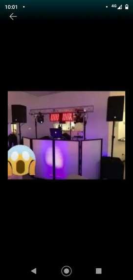 Dj, iluminación karaoke pantalla gigante fotografía y filmación