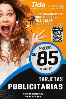 Tarjetas Personales / Publicitarias Couche 350gr
