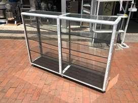 Vitrina Mostrador en Aluminio de 150 X 108 X 35