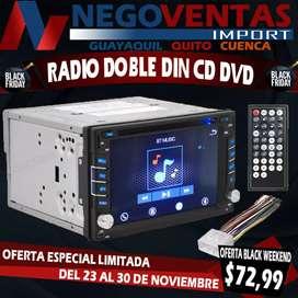 RADIO DOBLE DIN CD DVD MEGA OFERTA EXCLUSIVA ÚNICA DE NEGOVENTAS POR TIEMPO LIMITADO APROVECHA Y LLEVA EL TUYO