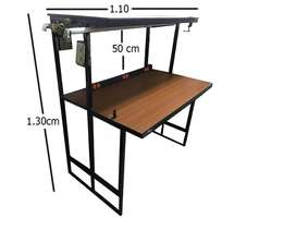 Mesa para laboratorio en tubo cuadrado