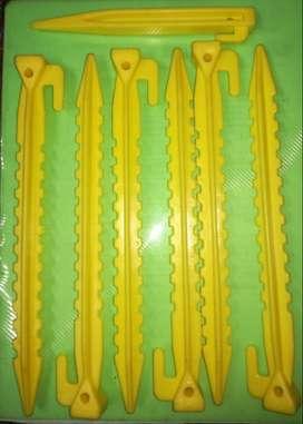 Set 7 Estacas Plásticas 23x2x2 Cms