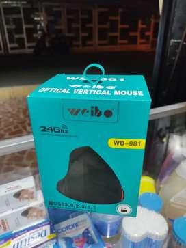 Mouse óptico vertical inalámbrico recargable