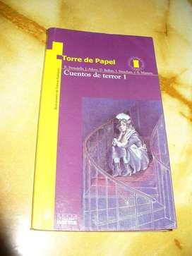 """Libro:  """"Cuentos de terror 1"""" Varios autores. Colección Torre de Papel"""