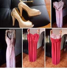 Vendo vestidos de gala u zapatos talla 35