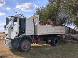 Flete, transporte, cargas paletizadas con camion
