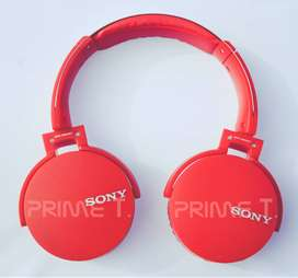 Audifonos sony bluetooth diadema color rojo
