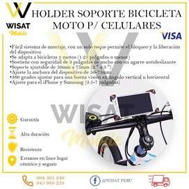 Holder soporte bicicleta moto P/ Celulares