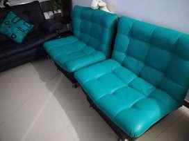 Juego de sala 1 Sofá y 2 sillas grandes, todos sofá cama