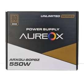 FUENTE AUREOX 550W ARXEGU-550W 80 PLUS BRONCE NUEVAS GTIA