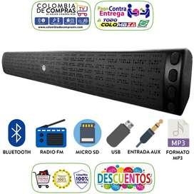 Barra Sonido Bocina 41 Cm Bluetooth Parlante 10w Usb Fm Nuevas Garanti