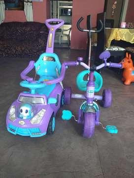 Triciclo bicicleta de niña baby world