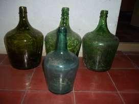 Damajuanas de vidrio verde varios tamaños