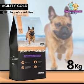 AGILITY GOLD PIEL PEQUEÑOS ADULTOS 8K