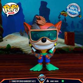 Funko Pop Crash con Scuba (421) - Crash Bandicoot