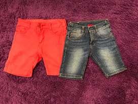 Vendo 2 bermudas shorts marca MIMO impecables talles 4