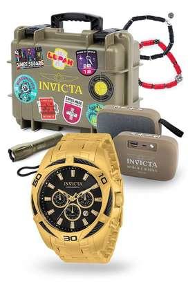 Reloj Invicta Bolt dorado, oro, coleccionista. Relojes originales Casio, Citizen, Diesel, Fossil, Guess