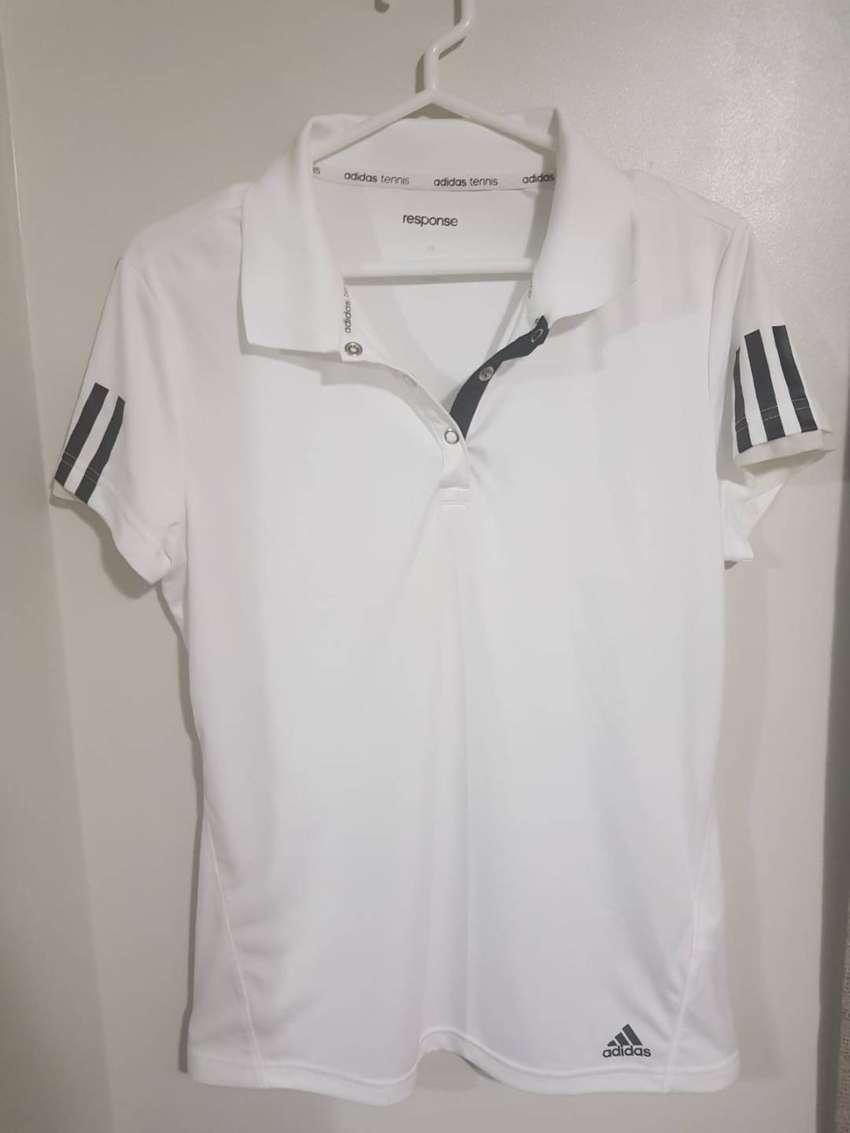 Polo blanco Adidas original - Mujer - Talla S