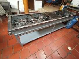 Cocina industrial multifuncional + cilindro gas 100