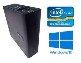 Moderna Mini Torre – Intel 3ra Generación –ssd 128gb - 4GB RAM-hdmi puertos 3.0 – Wifi