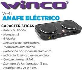 Anafe eléctrico 2 hornallas Winco W-41 353