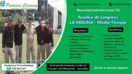 AUXILIAR DE LIMPIEZA MEDIO TIEMPO - LA MOLINA