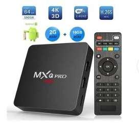 Tv Box 4K Ultra HD Ram 2Gb Rom 16Gb Smart Tu Tv MXQ Pro Android 7.1