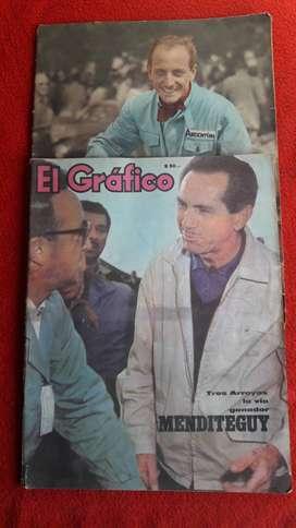 revistas el grafico roberto mieres , menditeguy nº 1770 y 2453