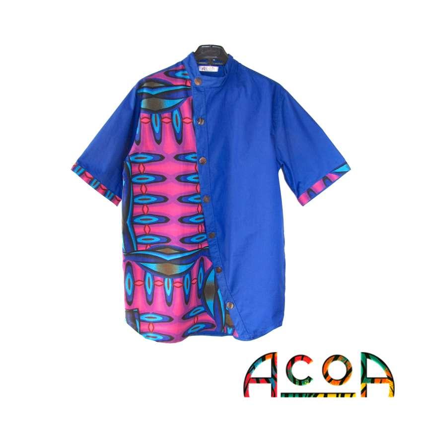 Colorosas camisas en tela africana 0