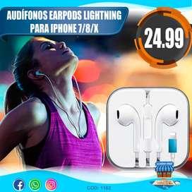 Audifono Earpods Lightning Para iPhone 7/8/x