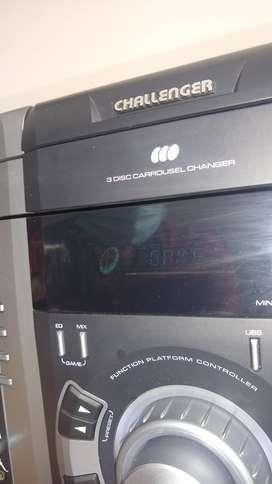 Equipo de sonido Challenger USB
